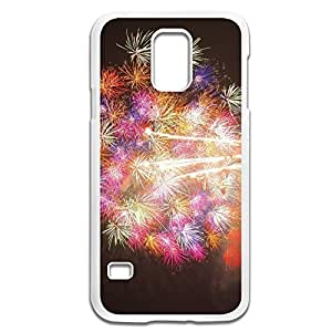 Samsung Galaxy S5 Cases Fireworks Design Hard Back Cover Shell Desgined By RRG2G