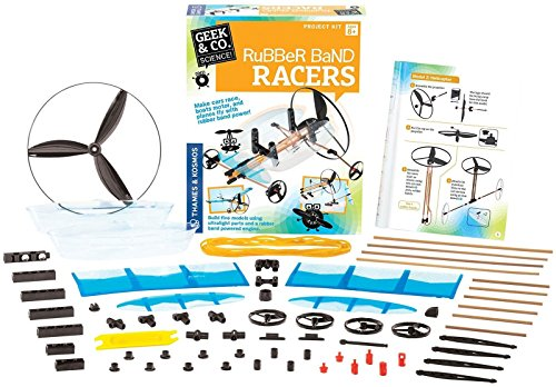 Geek & Co. Science Rubber Band Racers (Racer Rubber)