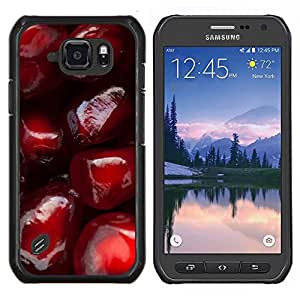 Caucho caso de Shell duro de la cubierta de accesorios de protección BY RAYDREAMMM - Samsung Galaxy S6Active Active G890A - Granada roja fruta jugosa sabrosa