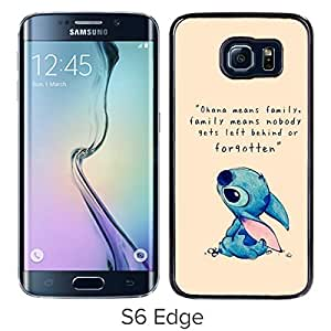 AZE Beautiful Fashion Lilo And Stitch Black Case Cover For Samsung Galaxy S6 Edge