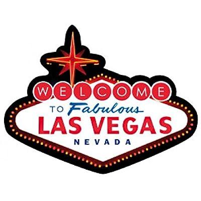 1art1® Las Vegas Poster-Sticker Autocollant - Logo Las Vegas (9 x 9 cm) Cuisine & Maison
