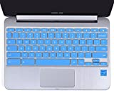 Keyboard Protector Cover for ASUS Chromebook Flip C100PA C101PA 10.1-Inch Convertible 2 in 1 Touchscreen Laptop US Layout (Blue)