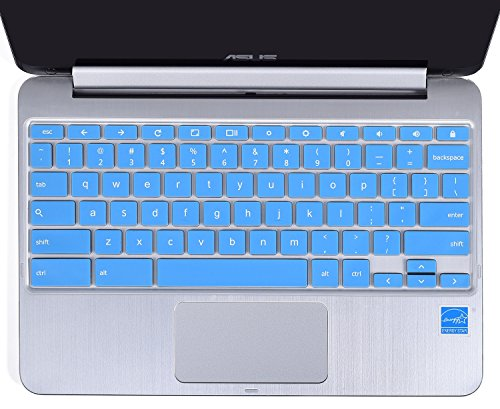 Keyboard Protector Cover for ASUS Chromebook Flip C100PA C101PA 10.1-Inch Convertible 2 in 1 Touchscreen Laptop US Layout (Blue) (Keyboard For Cover Laptop Asus)