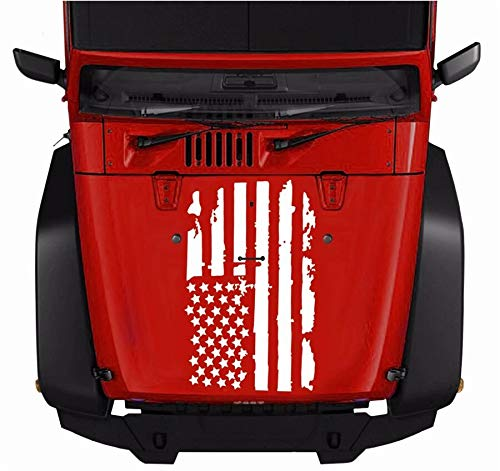 Universal 51*90CM Distressed USA Flag Car Jeep Hood Window Graphic Decal Sticker
