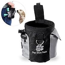 UEETEK Dog Treat Pouch Pet Hands Free Training Waist Bag Drawstring Carries Pet Toys Food Poop Bag Pouch