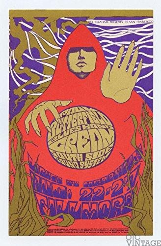 Bill Graham Postcard 79 Cream Paul Butterfield Blues Band 1967 Aug 22 ()