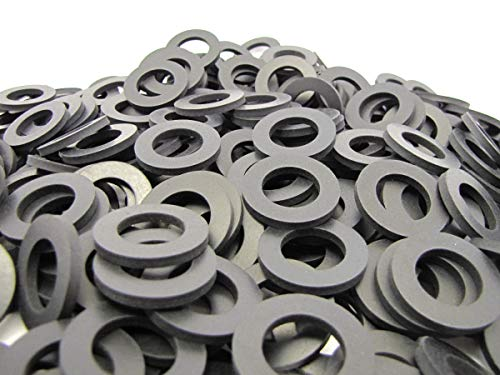 "(100) Premium Quality EPDM Rubber Washers - 1 1/4"" OD X 3/4"" ID X 1/8"" Thickness - Rubber Washers"
