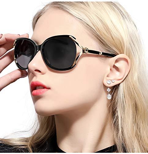 - FIMILU Women's Classic Oversized Polarized Sunglasses Elegant Fashion Rhinestone Design for Driving Shopping Travelling