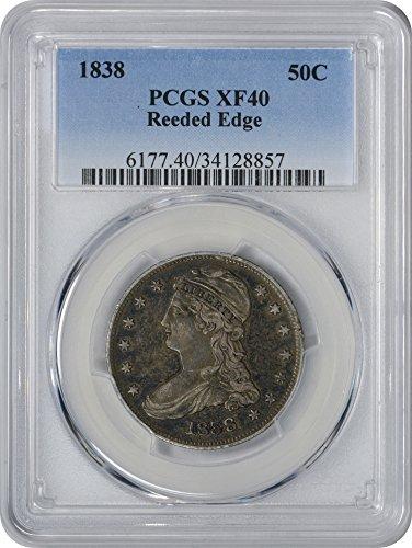 1838 Bust Half Dollar EF40 PCGS