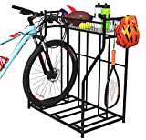 BIRDROCK HOME 3 Bike Stand Rack with Storage