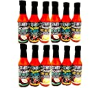 START! Curry Hot Sauce - Variety Sampler Party Pack - Original, Coconut, and Pineapple Flavors - Vegan + Gluten Free - Everyday Gourmet Light Spice (12 pack)