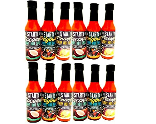 START! Curry Hot Sauce - Variety Sampler Party Pack - Original, Coconut, and Pineapple Flavors - Vegan + Gluten Free - Everyday Gourmet Light Spice (12 pack) by Start (Image #8)