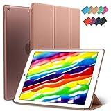 New iPad 9.7-inch 2018 2017 Case, ROARTZ Rose God Slim-Fit Smart Rubber Folio