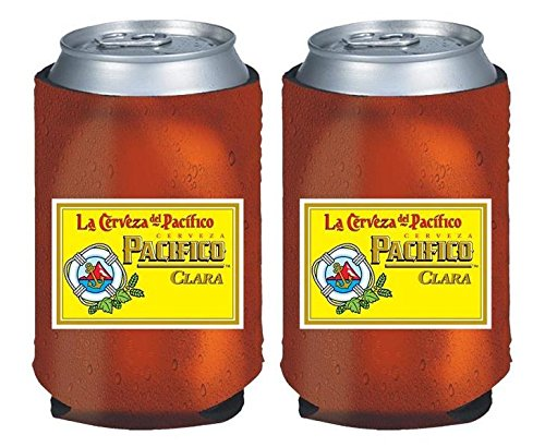 Pacifico Clara Cerveza 12oz Beer Can Cooler Holder, used for sale  Delivered anywhere in USA