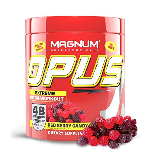 Magnum Nutraceuticals Stimulant-Free Opus Intra-Workout Powder (48 Servings, Red Berry)