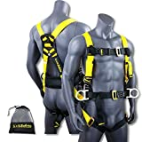 KwikSafety HURRICANE | OSHA ANSI Fall Protection Full Body Safety Harness w/Back Support | Personal Protective Equipment | Dorsal Ring Side D-Rings | Universal Construction Industrial Roofing Tool