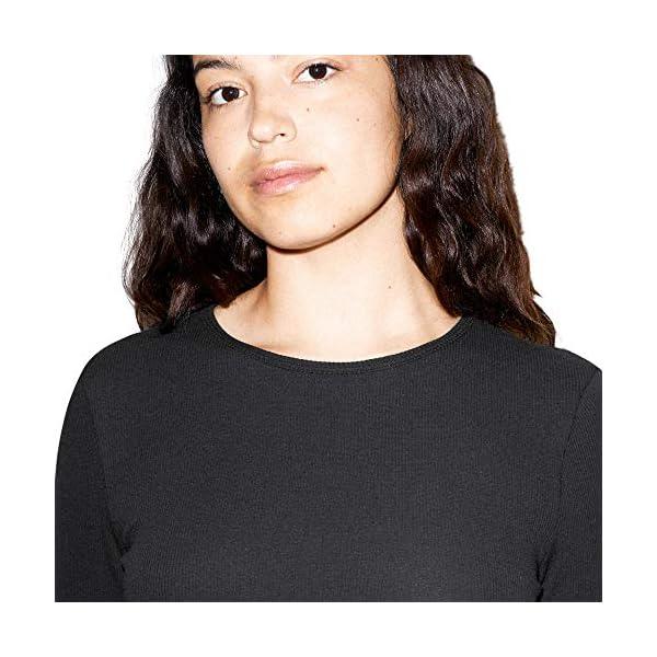 American Apparel Women's Cotton 2x2 Long Sleeve Crewneck Dress