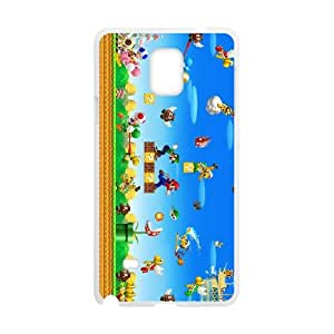 Super Mario Bros Samsung Galaxy Note 4 Cell Phone Case White Phone Accessories JV266910