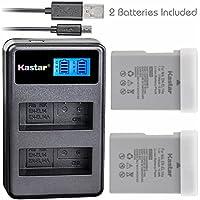 Kastar Battery (X2) & LCD Dual Slim Charger for Nikon EN-EL14a, EN-EL14, ENEL14A, ENEL14 & Nikon Coolpix P7000 P7100 P7700 P7800, D3100, D3200, D3300, D3400, D5100, D5200, D5300 DSLR, Df DSLR, D5600