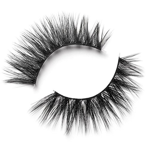Lilly Lashes 3D Faux Mink Delara   False Eyelashes   Dramatic Look and Feel   Invisible Band   Reusable   Non-Magnetic   100% Handmade, Cruelty-Free, Vegan   Silk Like Luxury Fibers