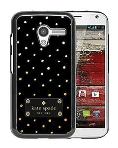 New Fashion Custom Designed Kate Spade Cover Case For Motorola Moto X Black Phone Case 210