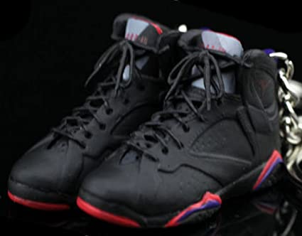 cheaper 43f26 9cc82 Amazon.com   Air Jordan VII 7 Retro Raptors Black Purple OG Sneakers Shoes  3D Keychain Figure   Everything Else