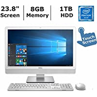 Dell Inspiron 23.8 IPS 1920x1080 touch display all-in-one desktop (2017 Newest), Intel Pentium N3700 processor up to 2.4GHz, 8GB RAM, 1TB HDD, 802.11ac, Bluetooth, HDMI, card reader, Windows 10 Home