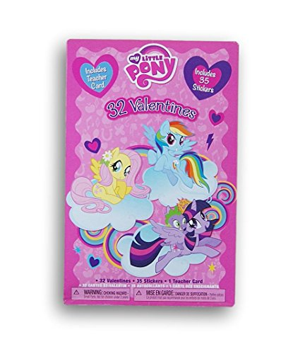 My Little Pony Valentines with Stickers - 32 Count