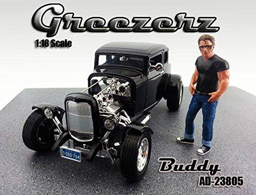 Greezerz Buddy Figure, Black - American Diorama Figurine 23805 - 1/18 scale