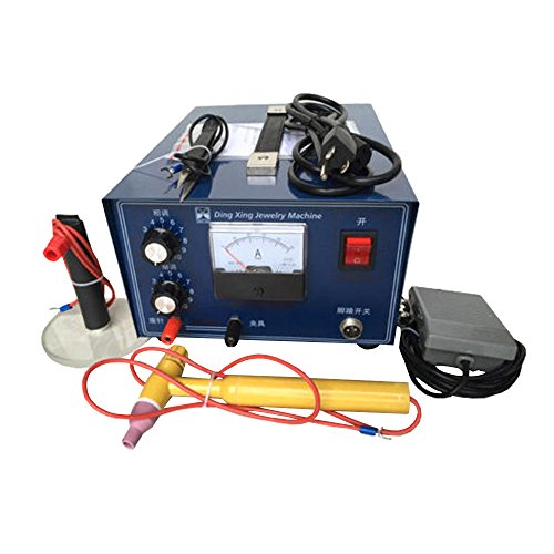 400W Mini Spot Welder Gold Silver Jewelry Laser Welding Machine with Handle Tool 110V ()