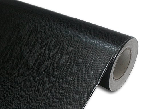 Satin Snake (Hachi Auto Black Snake Skin Leather Vinyl Car Wrap 60-by-60-inch)