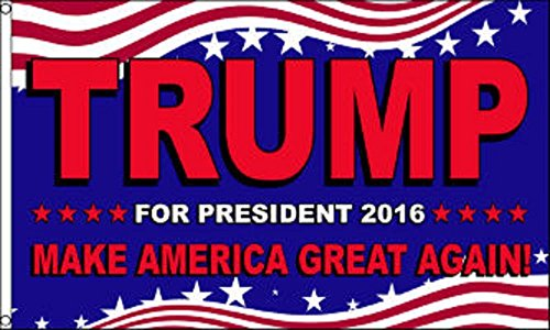 Trump For President 2016 Make America Great Again 3'x5′...