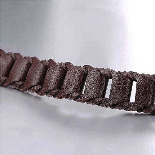 VirtualStoreUSA.com Genuine Leather Bracelet 21CM 6MM
