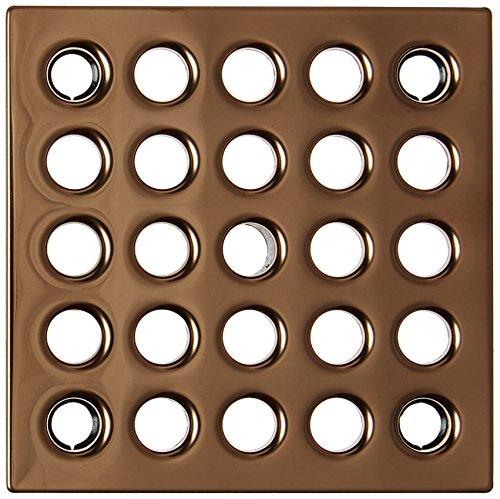 - Ebbe E4406 Square Shower Drain Grate, Polished Copper
