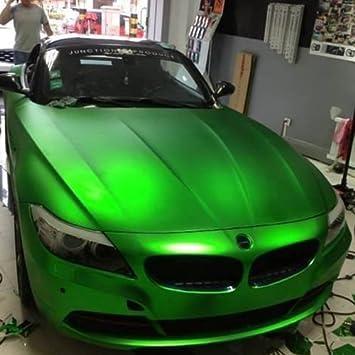 3d Chrom Matt Metallic Grun Mit Luftkanalen Car Wrapping Profi