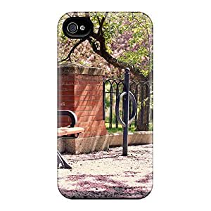 MeSusges Iphone 4/4s Well-designed Hard Case Cover Park Spring Blossom Protector