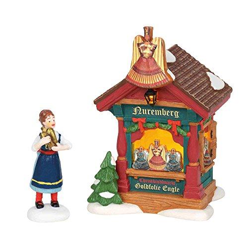 (Department56 Department 56 6002289 Alpine Village, Xmas Market, Gold Foil Angels)
