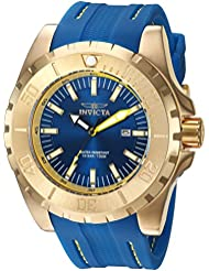 Invicta Mens Pro Diver Quartz Stainless Steel and Polyurethane Casual Watch, Color:Blue (Model: 23736)
