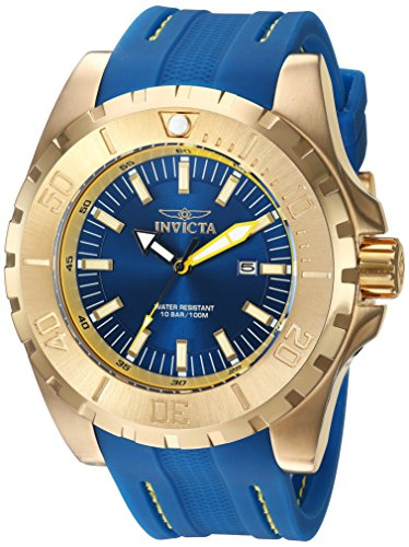 Invicta Men's 'Pro Diver' Quartz Stainless Steel and Polyurethane Casual Watch, Color:Blue (Model: 23736) -