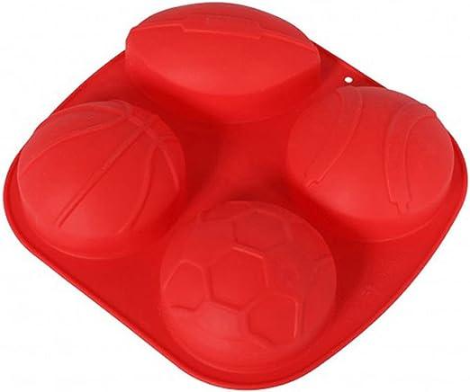 Molde Silicona 4 diferentes pelotas, aprox. 20,5 x 21.5 cm), color ...