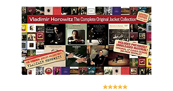 Vladimir Horowitz - Complete Original Jacket Collection: Vladimir Horowitz: Amazon.es: Música
