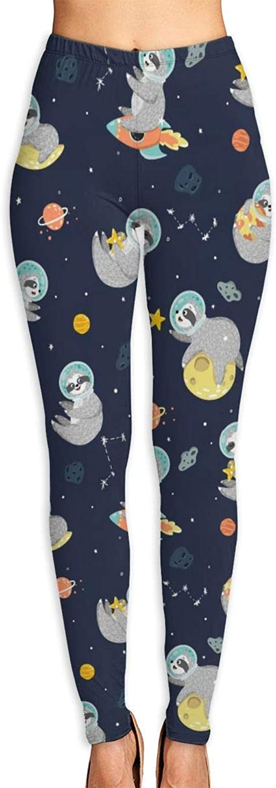 AAAshorts Space with Funny Sloth Pantalones de yoga ...