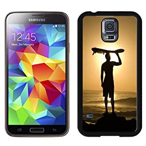 Popular And Unique Designed Case For Samsung Galaxy S5 I9600 G900a G900v G900p G900t G900w Phone Case With Surfing Man Silhouette Phone Case Cover