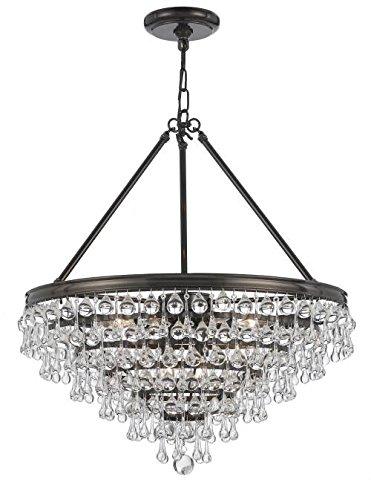 Crystorama 137 vz crystal eight light chandelier from calypso crystorama 137 vz crystal eight light chandelier from calypso collection in bronzedarkfinish aloadofball Gallery