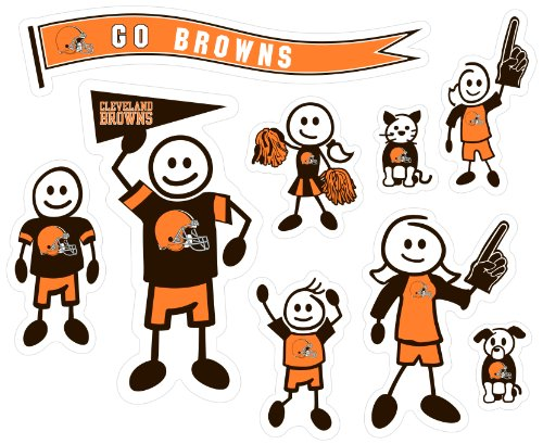 Siskiyou NFL Cleveland Browns Large Family Decal Set