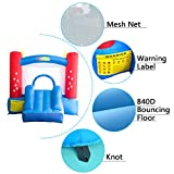 YARD Party Event Games Kids Bounce House Home Activities Children Inflatable Bouncy Castle with Slide Include Blower (9.5x6.5x6.5)