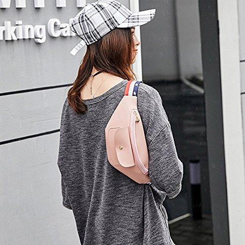 Hip Sling Travel Funky Shoulder Bum Zipper Adjustable Fanny Storage Waist Bag Leather Pack Bag Pink Belt Bag Bag Pack Bumbag Waterproof Phone Chest Lonshell XqanZH