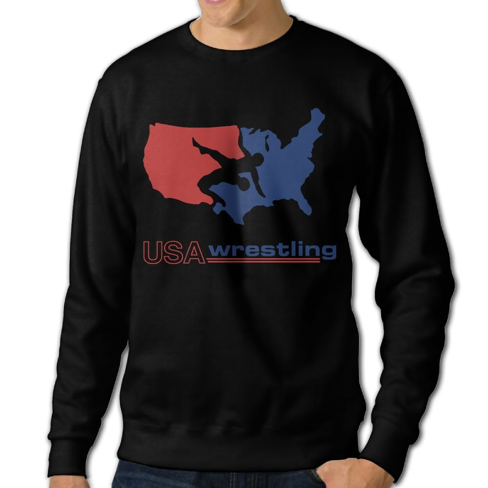 USA Wrestling Mens Crew Neck Sweatshirt by HGTEe
