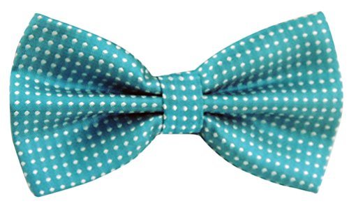 Panegy Mens Polka Dots Textured Pre-tied Adjustable Length Formal Tuxedo Bowtie Sky Blue