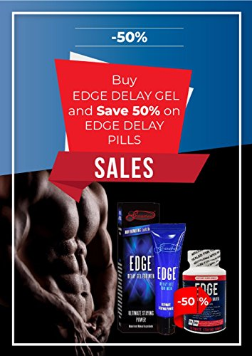 Edge Delay Gel. Ultimate Staying Power: Natural, Prolonging and Desensitizing Delay for Men. NO Lidocaine, Non-Numbing Long Lasting! Pocket Size Tube! (7ml)